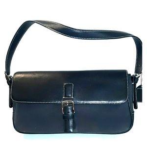 Vintage COACH HAMPTON'S Flap Demi Canvas Leather